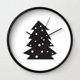 Scandinavian Christmas Tree Wall Clock