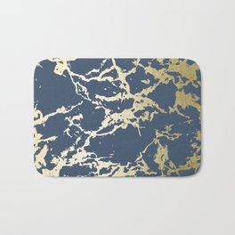 Kintsugi Ceramic Gold on Indigo Blue Bath Mat