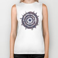 cycle Biker Tanks featuring The Cycle by Hector Mansilla