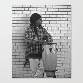 Street Drumming 2 Canvas Print