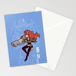 Köpke's Lasergirl - Enter the Robot! Stationery Cards