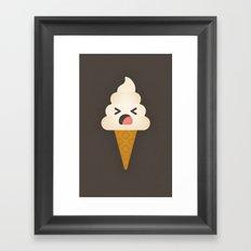 Vanilla Cone Framed Art Print