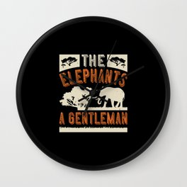 Elephant Quote - 41 Wall Clock