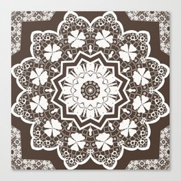 lace ornament Canvas Print