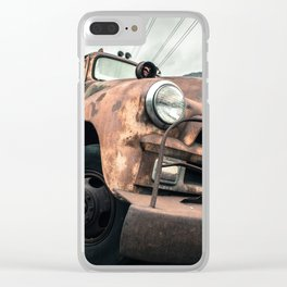 Rusty Road Clear iPhone Case