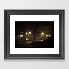 Late Night Misty Evening Framed Art Print