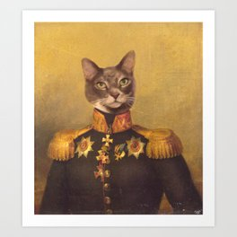 General Bity Bits Portrait Art Print