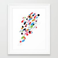 swimming Framed Art Prints featuring Swimming by Nicki Traikos