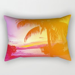Tropical Dreamsicle Rectangular Pillow