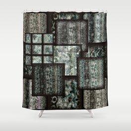 Bohemian Combo Blue Shower Curtain