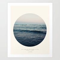 storm Art Prints featuring In Storm by Tina Crespo