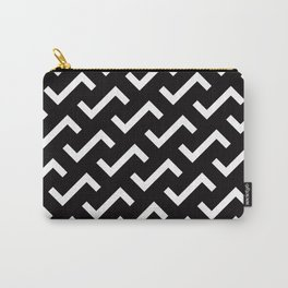 Geometric Pattern #36 (black white S shape pattern) Carry-All Pouch