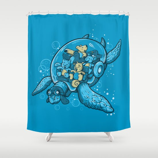 FLYING DEEP Shower Curtain