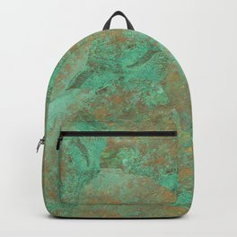Verdigris Patched Texture Backpack