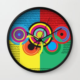 Olympic celebration 2 Wall Clock