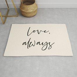 Love, always black Rug