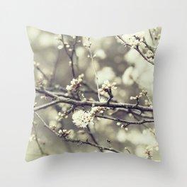 wild blossoms Throw Pillow