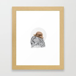 Owl you doin Framed Art Print