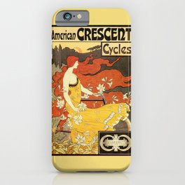 Vintage American art nouveau Bicycles ad iPhone Case