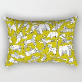 origami animal ditsy chartreuse Rectangular Pillow