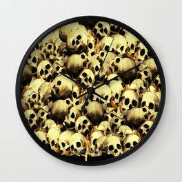 SKULL PILE 015 UP Wall Clock