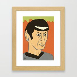 Spock Framed Art Print