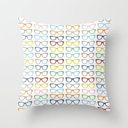 Rainbow Specs Throw Pillow