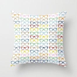 Rainbow Specs Throw Pillow