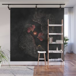 Chicken Year of Love Wall Mural