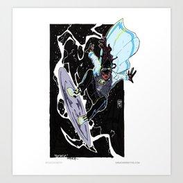 Statik Shock Art Print