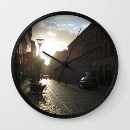 The Streets of Malmo Wall Clock