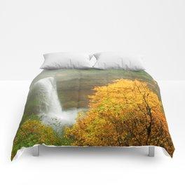 Waterfall into Fall Comforters