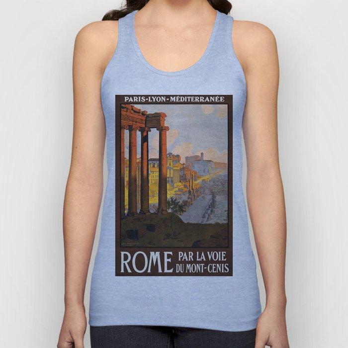 Vintage poster - Rome Unisex Tank Top
