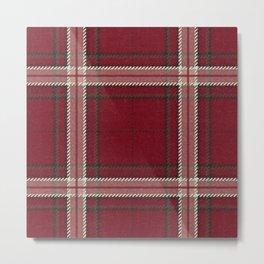 Hannibal Will Graham Aperitif Red Plaid Professor Design Metal Print