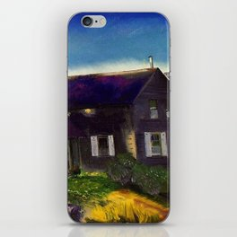 Home in the Mountains, Autumn landscape painting by George Wesley Bellows iPhone Skin