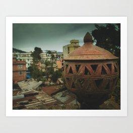 Kathmandu City Roof Tops - Architecture 04 Art Print