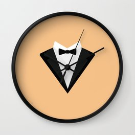 Black Tuxedo Suit with bow tie T-Shirt D946n Wall Clock