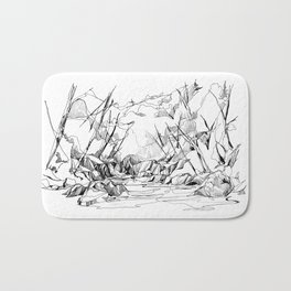 Calm Creek in a Thick Forest Bath Mat
