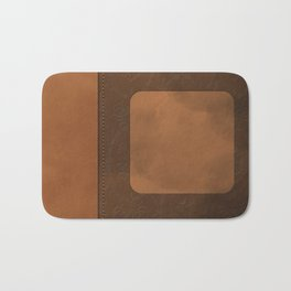 """A series of """"Covers for notebooks"""" . Brown leather. Bath Mat"""