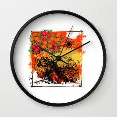 Pekingese pop art Wall Clock