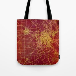 San Jose old map year 1899, united states vintage maps Tote Bag