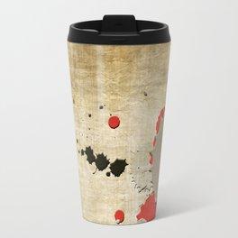Abstract Lemonchiffon Burlywood Splash Travel Mug
