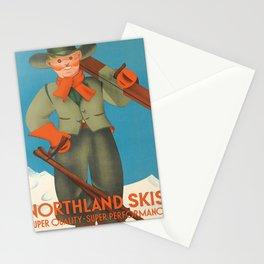 retro northland skis   super quality - super performance  Stationery Cards