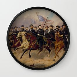 Grant and His Generals Painting Wall Clock