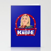 leslie knope Stationery Cards featuring Leslie Knope by SuperEdu