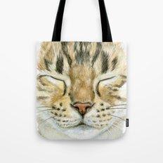 Sleeping Tabby Cat  830 Tote Bag