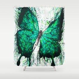 Night Garden Butterfly Shower Curtain