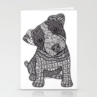 jack russell Stationery Cards featuring Jack Russell by DiAnne Ferrer