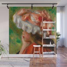 "Auguste Renoir ""Tête de jeune fille (Head of a young girl)"" Wall Mural"