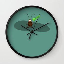 HELLO ROACH Wall Clock